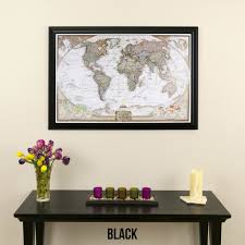 Map Card Austin by Amazon Com Executive World Push Pin Travel Map With Black Frame