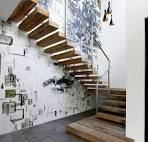 Architecture ~ Solid Planks Of Wood Cantilevered Staircase And ...
