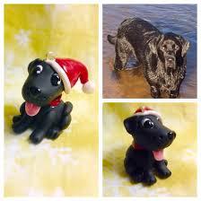 handmade custom black lab labrador dog christmas ornament made