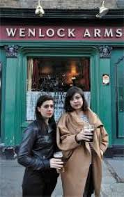 Sian Murphy (left) and Tessa Norton outside the Wenlock Arms - 1716785182