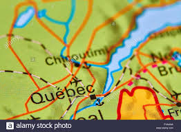Canada On The Map by Quebec City In Canada On The World Map Stock Photo Royalty Free