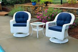 White Wicker Outdoor Patio Furniture by Amazon Com Tortuga Outdoor Biloxi 3 Piece Swivel Patio Bistro