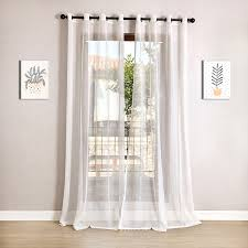 Elegant Kitchen Curtains by White Tulle Curtains For Living Room White Faux Linen Sheer