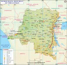 Sub Saharan Africa Physical Map by Dr Congo Map Map Of Democratic Republic Of Congo