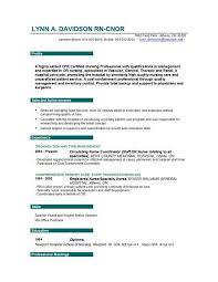 Example Resume  Registered Nurse Resume Sample Format  registered
