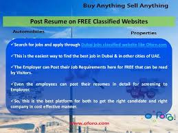 Best Job Sites To Post Resume by Easy Way Of Getting Jobs In Dubai At Www Oforo Com