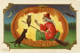 free vintage clip art images vintage halloween greeting cards