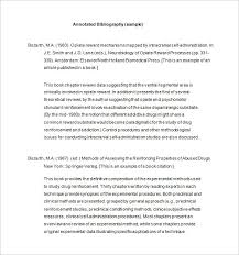 Annotated Bibliography Templates     Free Word  amp  PDF Format