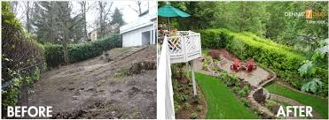 landscape small sloping backyard landscaping ideas the garden