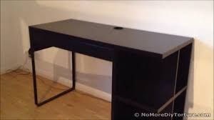 Computer Desks Black by Ikea Micke Desk With Integrated Storage Youtube
