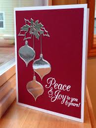 clairmont ornaments die memory box peace and joy hero arts