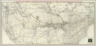 Chicago Line Map by Burlington Route Usa Map David Rumsey Historical Map Collection