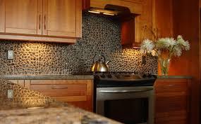 Kitchen Cabinets Mahogany Lacquer Mahogany Wood Kitchen Cabinets Decorated Pebble Stone Tile