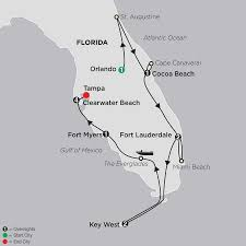 Map Of Clearwater Florida Florida Vacation W Clearwater Beach Stay Cosmos Travel