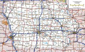 Large Map Of Usa by Large Detailed Roads And Highways Map Of Iowa State With All