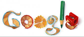 How to use Google Docs for Assignment Submission and Organization     Blogging Pedagogy Google logo made of pencil and pencil shavings