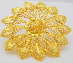 Indian Flower Design Indian Filigree Gold Plated Ring Big Flower Design Cocktail