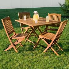 Teak Wood Patio Furniture Set - teak outdoor square folding dining table outdoor