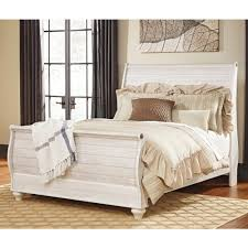 Ashley White Bedroom Furniture Ashley Furniture Willowton Queen Sleigh Bed In Whitewash Local