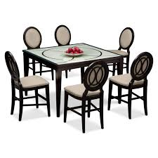 cosmo counter height table and 6 chairs merlot value city
