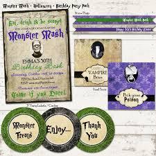 monster mash halloween valerie pullam designs monster mash bash birthday party pack