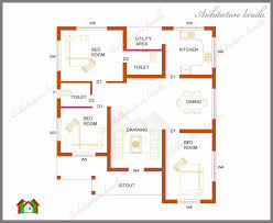 Simple 4 Bedroom Floor Plans Three Bedrooms In 1200 Square Feet Kerala House Plan Architecture