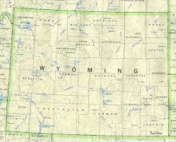 United States Map Major Cities by Wyoming Outline Maps And Map Links