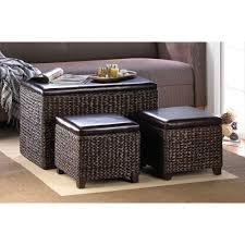 storage livingroom storage unit dark chocolate wicker furniture