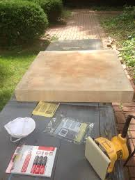 sanded down an old butcher block table top that had been used in a