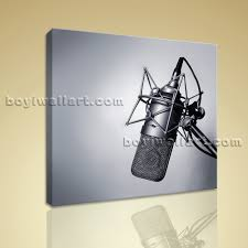 abstract home decor print canvas wall art vintage microphone picture modern abstract