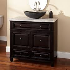 24 Inch Bathroom Vanity Combo by White Acrylic Floating Combo Sink On Brown Painted Wall Plus