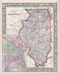 Map Of Wisconsin And Illinois by Antique Maps Of Illinois