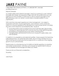 Perfect Cover Letter Uk Best Retail Assistant Manager Cover Letter Examples Livecareer