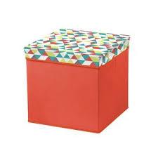 bintopia coral folding storage ottoman geometric