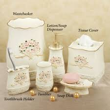 Beach Themed Bathrooms by Beach Themed Bathroom Accessories Sets Beach Theme Peach Bathroom