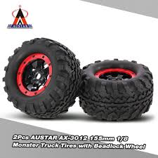 bigfoot summit monster truck 2pcs austar ax 3012 155mm 1 8 monster truck tires with beadlock