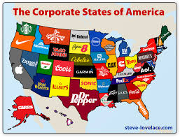 A Map Of America by The Corporate States Of America U2014 Steve Lovelace