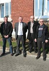 De gauche à droite: Jean-Pierre Guenez, Christophe Delvallez, Jean-Louis Rolland et Patrick Allard. - 1363692798_des-dirigeants-de-clubs-lancent-un-appel-6491