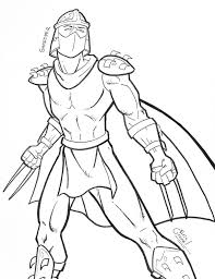 ninja turtles shredder coloring pages