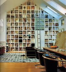 Home Library Lighting Design by Enchanting Home Library Design With Natural Skylight Lighting And