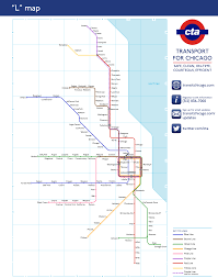 Chicago Line Map by Unofficial Map Chicago U201cl U201d As The London Transit Maps