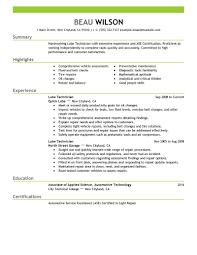 medical lab technician resume sample automotive technician resume examples professional automotive technician templates