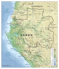 Physical Map Africa by Large Detailed Physical Map Of Gabon With Other Marks Gabon