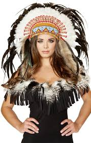 Indian Halloween Makeup Amazon Com Indian Feather Head Dress Halloween