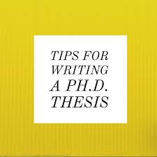 thesis tips Tips for Writing a Ph D Thesis Graduate School of Biomedical Sciences UTHSCSA Graduate School of Biomedical Sciences UTHSCSA The University of