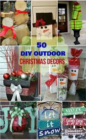 Homemade Christmas Decorations by Best 25 Diy Outdoor Christmas Decorations Ideas On Pinterest