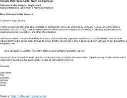 Employment Reference Letter From Previous Employer