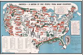 Big Map Of The United States by Diversity Map 1940 Map Of American Ethnic Groups Owned By