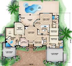 mediterranean style house plan 3 beds 3 5 baths 3242 sq ft plan