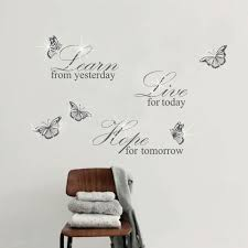 wall stickers uk wall art stickers kitchen wall stickers wss10008 com swarovski ws3024g grey learn live hope quotes